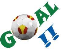 Spanish soccer fan Stock Image