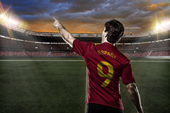 Spanish soccer player Royalty Free Stock Image