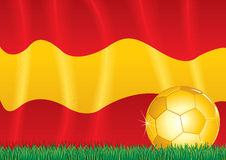 Spanish soccer theme Royalty Free Stock Image