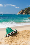 Spanish Sombrero at beach Royalty Free Stock Images