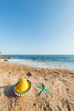 Spanish sombrero at the beach Stock Images