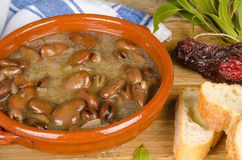 Spanish spicy beans Stock Images