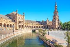 Spanish Square (Plaza de Espana) in Sevilla Royalty Free Stock Image