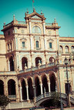 Spanish Square (Plaza de Espana) in Sevilla, Spain Royalty Free Stock Images