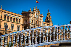Spanish Square (Plaza de Espana) in Sevilla, Spain. Europe stock photography