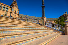 Spanish Square (Plaza de Espana) in Sevilla, Spain Stock Images