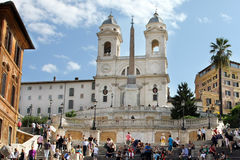 The Spanish square - Rome Stock Photos