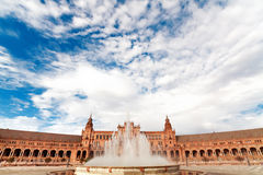 Spanish Square in Sevilla Royalty Free Stock Photography