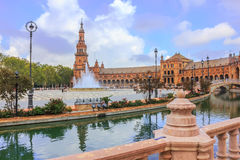 Spanish square in Sevilla Royalty Free Stock Images