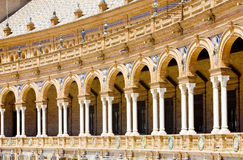Spanish Square in Seville Stock Photography