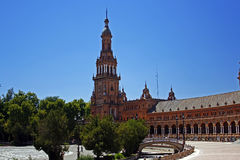 Spanish square in Seville Stock Photo