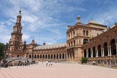 Spanish Square in Seville Royalty Free Stock Photography