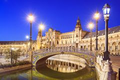 Spanish Square of Seville, Spain Stock Photography