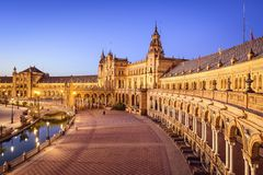 Spanish Square of Seville, Spain Royalty Free Stock Photography