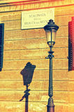 Spanish square sign in Rome Italy Royalty Free Stock Images