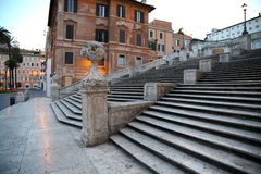 Spanish square with Spanish Steps  in Rome Italy Stock Images
