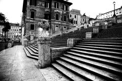 Spanish square with Spanish Steps  in Rome Italy Stock Image
