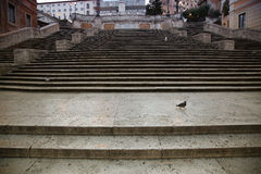 Spanish square with Spanish Steps  in Rome Italy Stock Photo