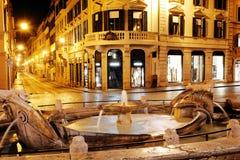 Spanish square and Via Condotti, Rome, Italy Royalty Free Stock Photo