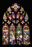 Spanish stained glass. Stained glass in Barcelona, Spain Stock Photos