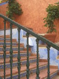 Spanish stairs. Colorful spanish stairs with plants stock image