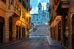 Free Spanish Stairs And Church Royalty Free Stock Image - 128008176
