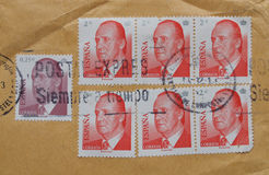 Spanish stamps Royalty Free Stock Images