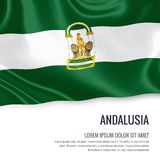Spanish state Andalusia flag. Stock Image