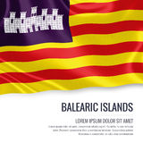 Spanish state Balearic Islands flag. Stock Images