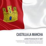 Spanish state Castilla-la Mancha flag. Stock Photo