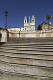 Spanish steps. The Spanish Steps & church of Trinita dei Monti Rome Italy Royalty Free Stock Image