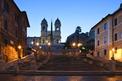 Spanish Steps. The Spanish Steps in rome at sunrise Royalty Free Stock Photo