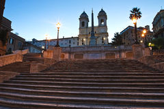 Spanish Steps. The Spanish Steps in rome at sunrise stock photos