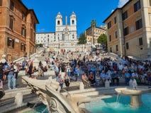 The Spanish Steps barcaccia fountain Piazza Spagna Royalty Free Stock Photo