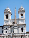 Spanish Steps and church of Trinita dei Monti in Rome Italy Royalty Free Stock Photography