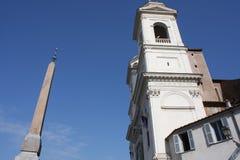 Spanish Steps and church of Trinita dei Monti in Rome Italy.  Stock Photo