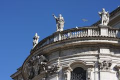 Spanish Steps and church of Trinita dei Monti in Rome Italy.  Royalty Free Stock Photography