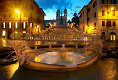 Spanish Steps and fountain Royalty Free Stock Photo