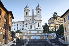 Spanish Steps at morning Royalty Free Stock Photography