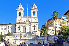 Spanish Steps at morning Royalty Free Stock Images