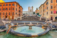 Spanish Steps at morning, Rome Royalty Free Stock Images