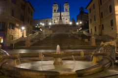 Spanish Steps by night stock photography