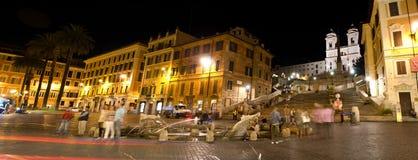 Spanish Stairs at night Royalty Free Stock Photos