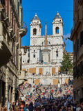 The Spanish Steps in Piazza di Spagna Stock Photography