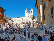 The Spanish Steps in Piazza di Spagna   Rome Royalty Free Stock Images