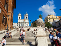 The Spanish Steps Piazza Spagna Royalty Free Stock Photo