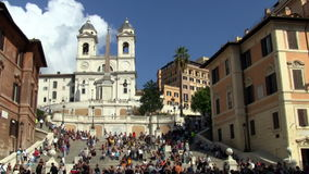 Spanish Steps Piazza Spagna Rome stock video footage