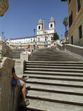 The Spanish Steps. A popular site to visit when in Rome, the Spanish Steps stock photo