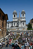Spanish steps in Rome. The Spanish Steps in Rome, Italy Royalty Free Stock Images