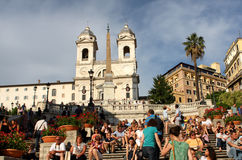 Spanish steps in Rome Stock Images